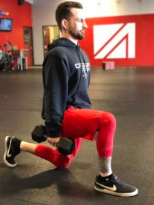 Lunges are a great way to build the quads without sacrificing your knees